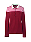 Le Polo en Coton Pima à Rayures Hautes et Manches Longues, Femme Stature Standard
