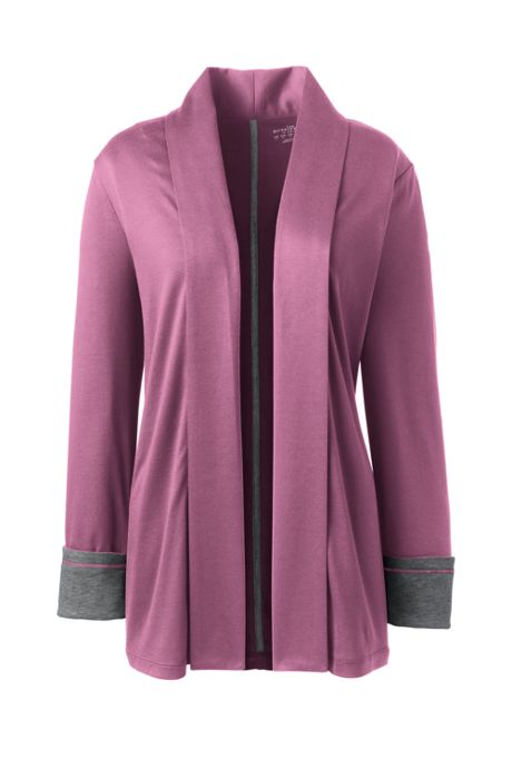 Women's Plus Supima Micro Modal Open Front Cardigan