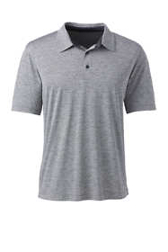 Men's Big Short Sleeve Space Dye Polo Shirt
