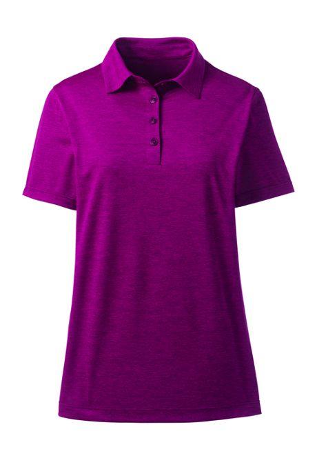 Women's Short Sleeve Space Dye Polo Shirt