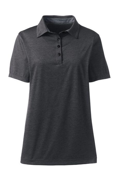 Women's Plus Size Short Sleeve Rapid Dry Sport Neck Polo Shirt