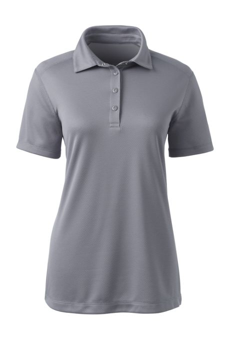 Women's Plus Tonal Jacquard Polo