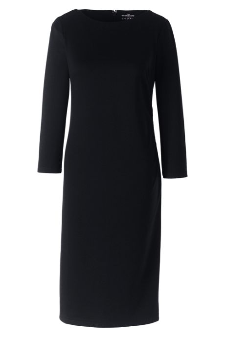Women's Petite 3/4 Sleeve Ponte Dress