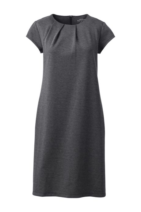 Women's Petite Ponte Short Sleeve Dress