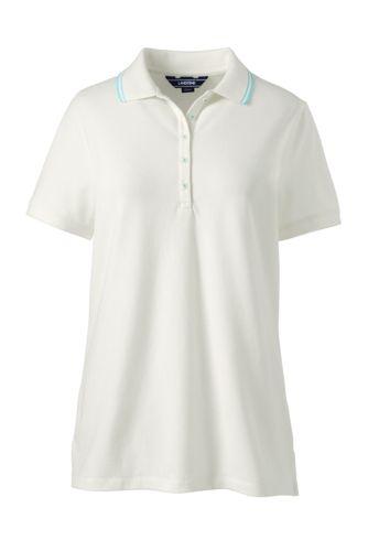Women's Short Sleeve Tipped Collar Pique Polo
