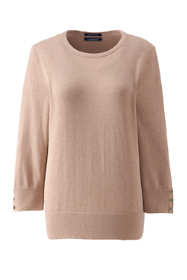 Women's Plus Size Supima Cotton 3/4 Sleeve Sweater