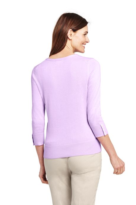 Women's Supima Cotton 3/4 Sleeve Sweater