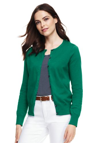 Le Cardigan Fines Mailles Supima, Femme Stature Standard