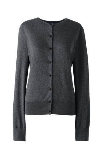 algodón Supima mujer para Cardigan de Suéter 7q0wFEWR