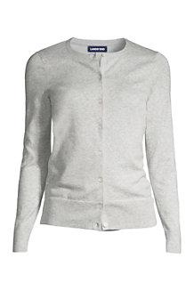 Supima Feinstrick-Cardigan für Damen in Normalgröße