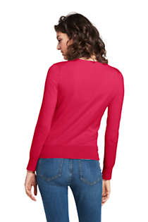 Women's Supima Cotton Cardigan Sweater, Back