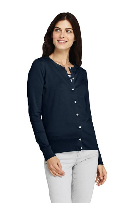 Women's Supima Cotton Long Sleeve Cardigan Sweater