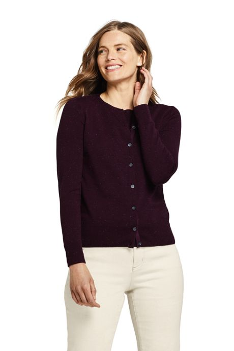 Women's Petite Supima Cotton Cardigan Sweater