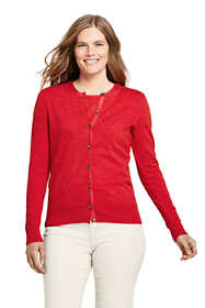 Women's Tall Supima Cotton Long Sleeve Cardigan Sweater