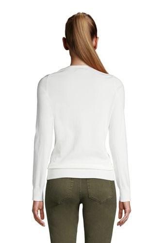 Women's Tall Supima Cotton Cardigan Sweater
