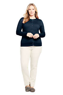 Women's Plus Size Supima Cotton Cardigan Sweater, Unknown
