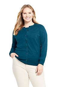 681b46a75 Women's Plus Size Supima Cotton Long Sleeve Cardigan Sweater