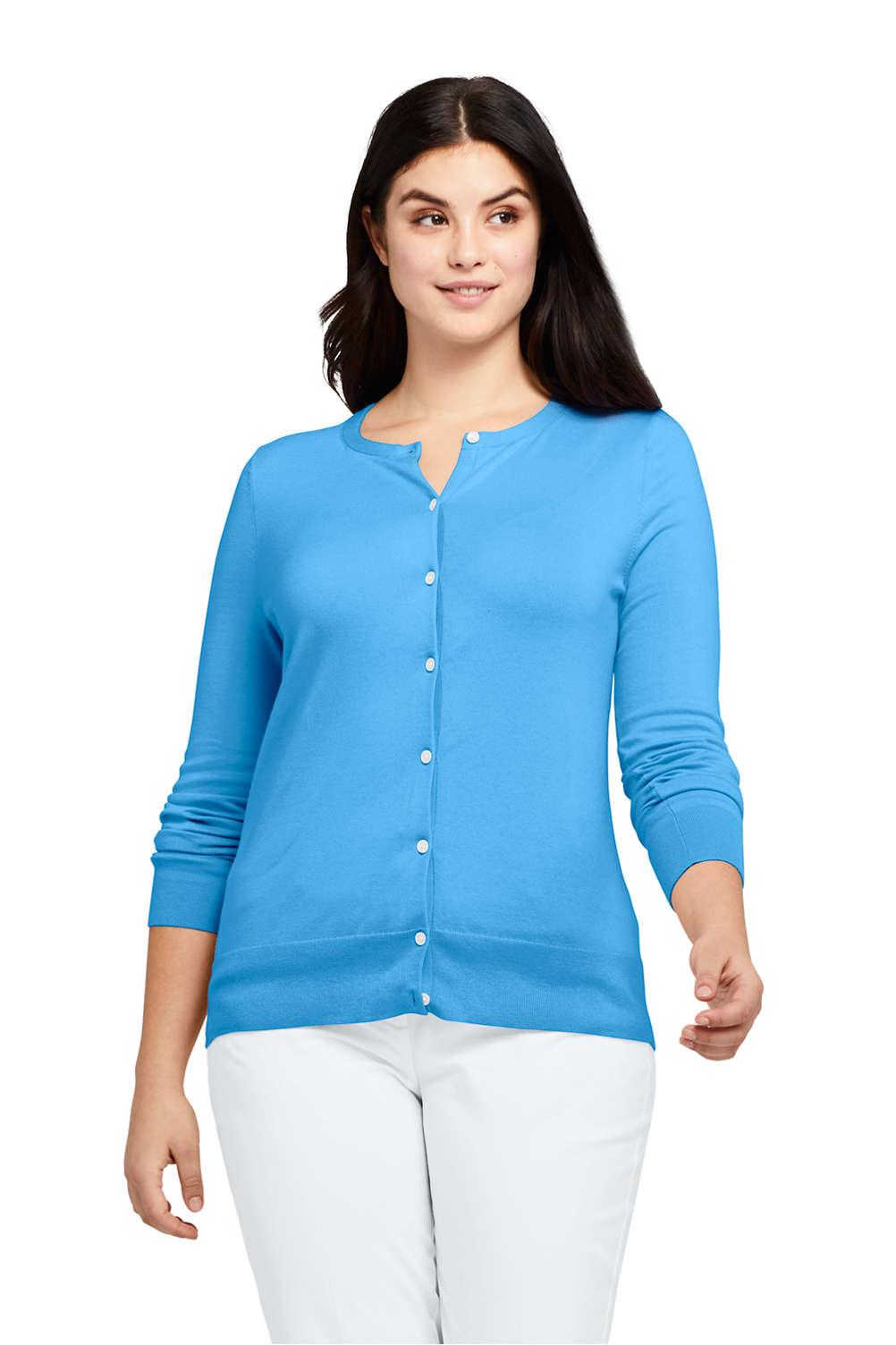 2657854c3d6 Women s Plus Size Supima Cotton Cardigan Sweater. Item  489025AH0. View  Fullscreen