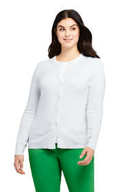Women's Plus Size Supima Cotton Cardigan Sweater