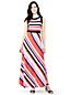La Maxi-Robe en Jersey Stretch Rayée, Femme Stature Standard