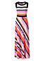 Women's Stretch Jersey Stripe Maxi Dress