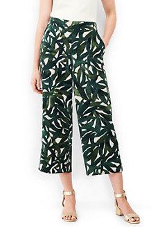 Women's Crepe Print Crop Trousers