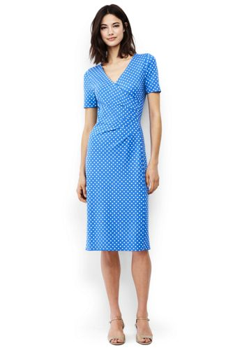 Women's Ponte Jersey Dot Wrap Dress