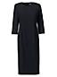 レディス・美型シルエット・イヤーラウンド・身長別ドレス/ペティート/無地/七分袖