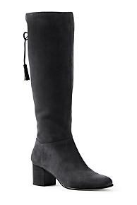 Womens Chelsea Rain Boots - 7 - BLUE Lands End Recommend JlNIcvv