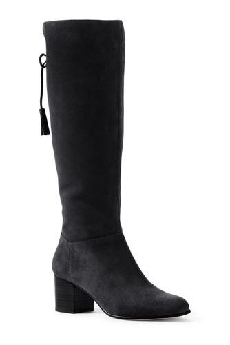 Women's Block Heel Suede Boots