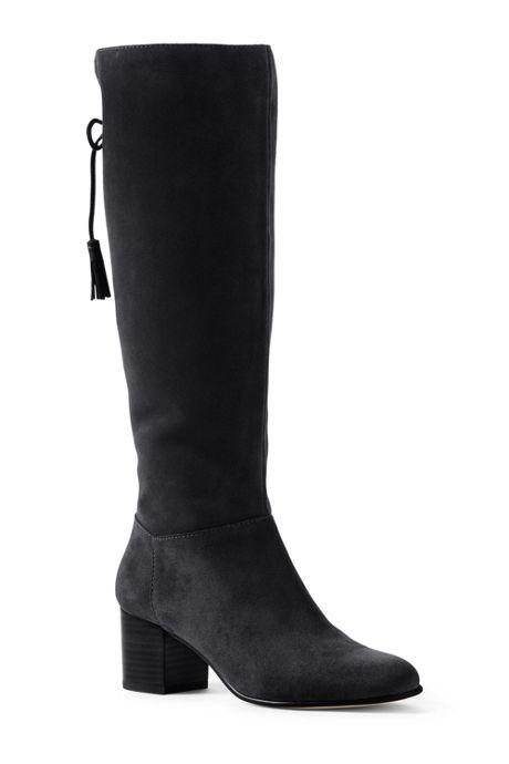 Women's Tall Suede Block Heel Boots