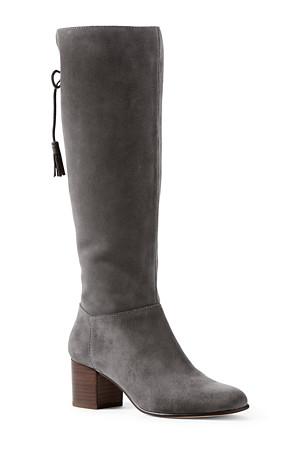 0f2030f74e0f Women's Block Heel Suede Boots | Lands' End