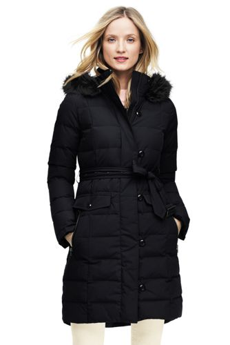 e461aea7 Women's Belted Down Coat | Lands' End