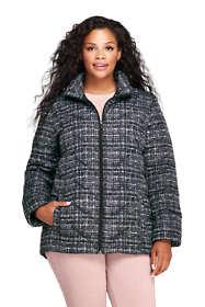 Women's Plus Size Print Down Puffer Jacket