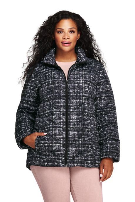 Women's Plus Size Print Down Puffer Jacket