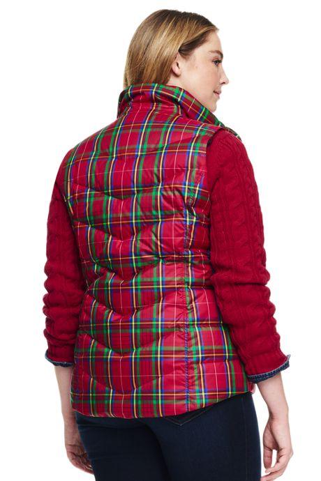 Women's Plus Size Print Petite Down Vest