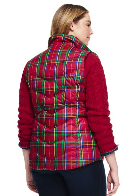Women's Plus Size Petite Print Down Puffer Vest