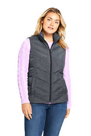 Women's Plus Size Print Down Vest