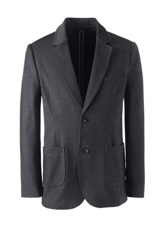 Lands End Men's Uniform Twill Ponte Sport Coat