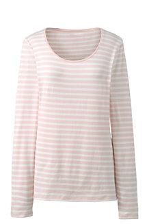 Women's Cotton/Modal Striped Scoop Neck Tee