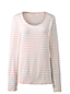 Women's Cotton/Modal Striped Scoop Neck Tee