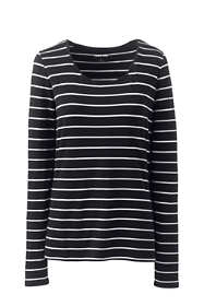 Women's Shaped Long Sleeve T-shirt Scoop Neck