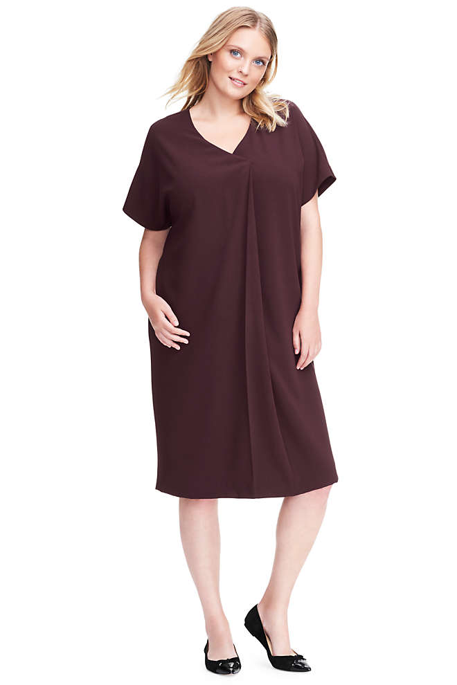 Women's Plus Size Dolman Tee Dress, Front