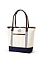 Canvas & Leather Open Top Tote