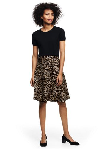 Women's Pattern Jersey A-line Skirt