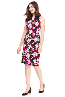 Women's Pattern Sleeveless Ponte Jersey Dress