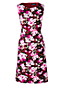 La Robe Fourreau Stretch Sans Manches à Motifs, Femme Stature Standard