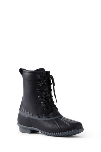 Mens Regular Everyday Lace-up Boots - 9 - Green Lands End