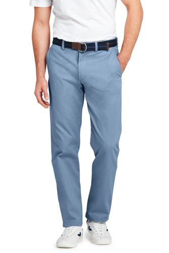 Mens Straight Fit Everyday Chinos - 30 - Green Lands End
