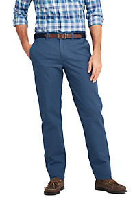 Mens Slim Fit Everyday Chinos - 38 - BLUE Lands End